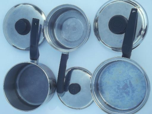 Vintage Lifetime Stainless Pots Amp Pans Lot Egg Poacher
