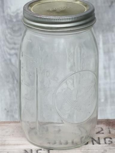 Vintage Longlife Widemouth Canning Jar Long Life Glass