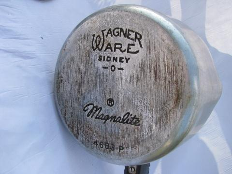 Vintage Magnalite Aluminum Cookware Wagner Ware Pots
