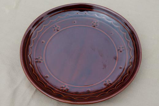 Vintage Marcrest Daisy Dot Stoneware Pottery Dinner Plates & Stoneware Dinner Plates - Castrophotos