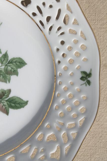 Vintage Marienbad Germany Lace Edge China Dessert Plate