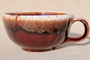 vintage McCoy pottery brown drip glaze soup mug bowl w/ cup handle