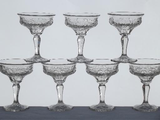 Old champagne glasses