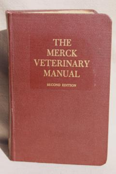 vintage Merck Manual medical book, 2nd edition Merck Veterinary Manual 1961
