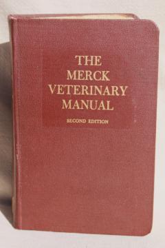 vintage Merck Manual medical book, 2nd edition Merck Veterinary Manual 1961