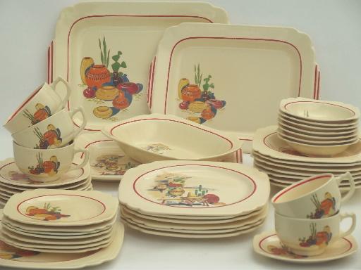 vintage Mexicana u0026 Hacienda Homer Laughlin Mexican theme pottery dinnerware & vintage Mexicana u0026 Hacienda Homer Laughlin Mexican theme pottery ...