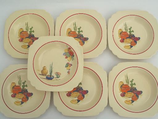 vintage Mexicana \u0026 Hacienda Homer Laughlin Mexican theme pottery dinnerware & Mexicana \u0026 Hacienda Homer Laughlin Mexican theme pottery dinnerware