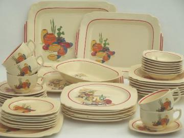 vintage Mexicana & Hacienda Homer Laughlin Mexican theme pottery dinnerware