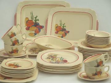 vintage Mexicana & Hacienda Homer Laughlin Mexican theme pottery dinnerware