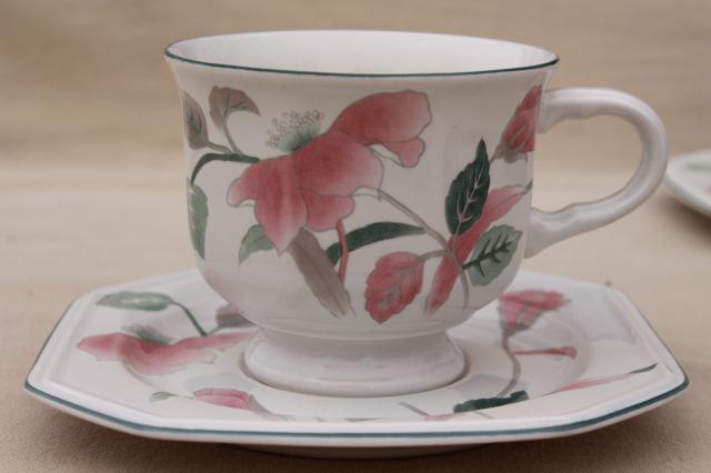 Vintage mikasa silk flowers japanese inspired floral pattern china vintage mikasa silk flowers japanese inspired floral pattern china tea cups saucers set mightylinksfo
