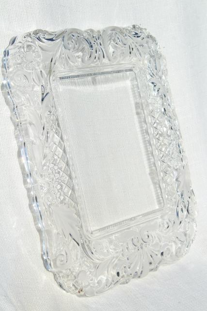Vintage Mikasa Crystal Clear Amp Frosted Glass Frame Or Tray