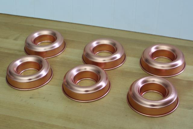 Vintage Mirro Copper Colored Aluminum Ring Molds