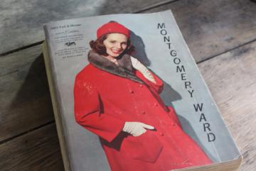 vintage Montgomery Ward catalog, Fall Winter 1963 big book, collectors reference 60s retro