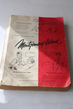 vintage Montgomery Ward catalog, Spring Summer 1957 big book, baby boomer memories