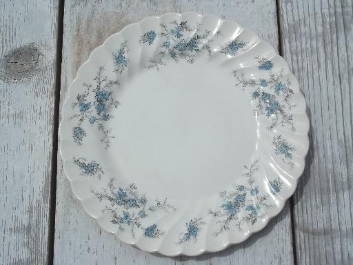 Vintage Myott Forget Me Not Staffordshire China Set Bowls