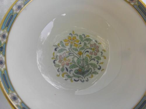 vintage Mystic pattern Lenox china cream soup bowl handled bullion cup
