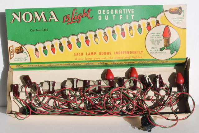 28 Best - Noma Christmas Tree Lights Not Working - vintage goodlite box w noma c 6 christmas ...