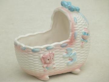 vintage Napcoware baby planter, Napco - Japan ceramic flower pot