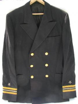 vintage Naval Commodore's uniform coat, bullion star patches & braid