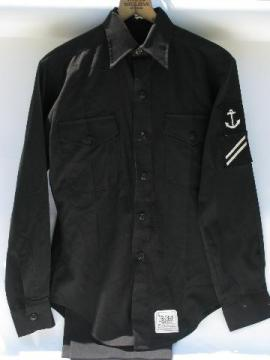 vintage Navy sailor's uniform shirt & pants w/anchor patch
