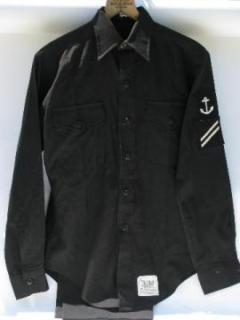 vintage Navy sailor's uniform shirt & pants w/anchor patch