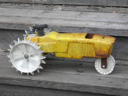 Nelson Sprinkler Replacement Parts : Vintage nelson iron lawn tractor traveling sprinkler for