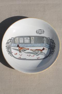 vintage Old English Sport Adams china bowl, Set To (Set Too) cock fighting roosters
