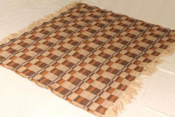 vintage Pendleton wool blanket, fringed camp blanket / throw in warm fall colors