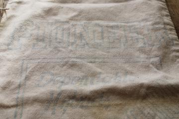vintage Pioneer seed bag, printed cotton feed sack fabric, rustic farmhouse decor