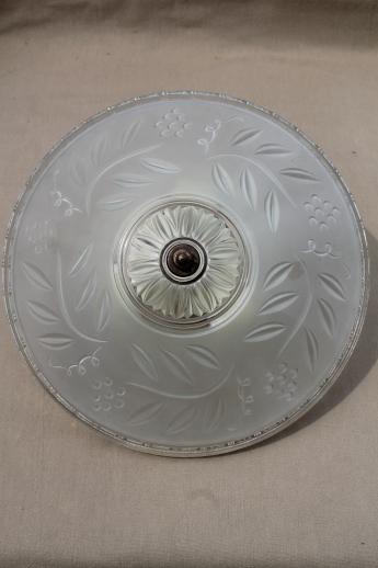 Vintage porcelier china flush mount ceiling light fixture w old vintage porcelier china flush mount ceiling light fixture w old glass shade aloadofball Images