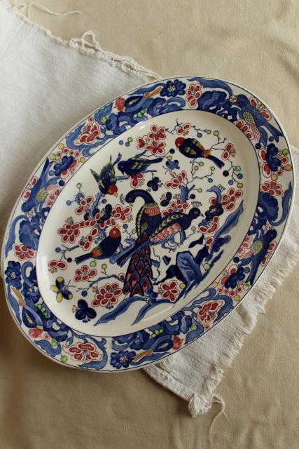 Vintage Portugal Pottery Platter Or Tray Hand Painted