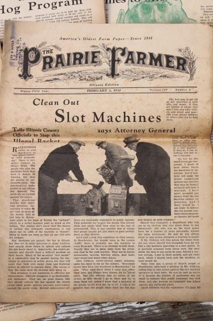 vintage Prairie Farmer newspapers, 1930s  depression era farm magazines lot