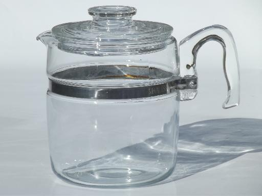 Pyrex Coffee Maker How To Use : vintage Pyrex flameware 7759-B stovetop percolator, clear glass coffee pot