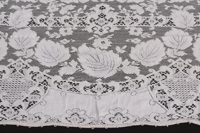 Vintage Quaker Label Cotton Lace Tablecloths Creamy Off