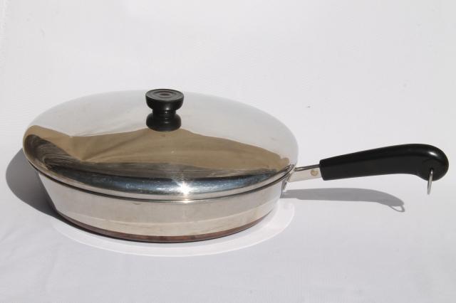 Vintage Revere Ware Copper Clad Bottom 12 Inch Skillet