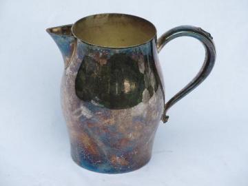 vintage Revere silver plate pitcher, antique reproduction