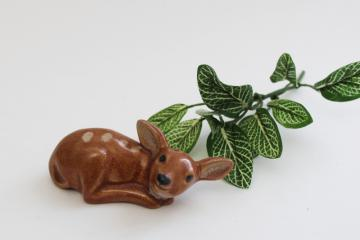 vintage Rosemeade pottery tiny baby deer fawn figurine shaker, salt or pepper