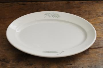 vintage Royal Copenhagen ironstone china bread plate platter w/ oats & barley or wheat