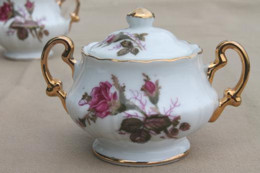 Vintage Royal Sealy Japan Moss Rose China Mini Cream