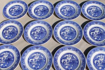 vintage Royal china Willow Ware blue & white dinner plates