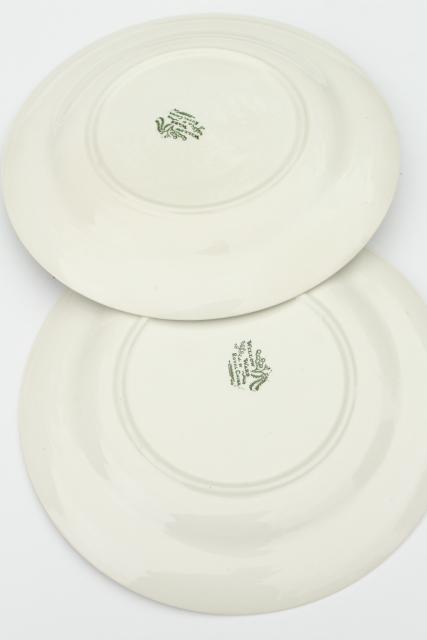 & vintage Royal china green willow dinner plates blue willow in green!