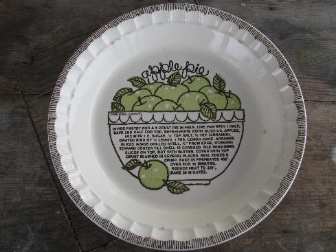 & vintage Royal china pie plate apple pie recipe pie pan