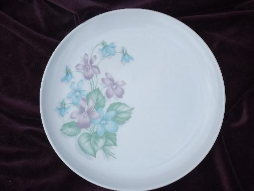 & vintage Royalon melmac lavender purple violets print dinner plates