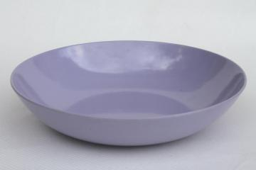 vintage Royalon melmac salad / serving bowl, purple violet solid lavender color