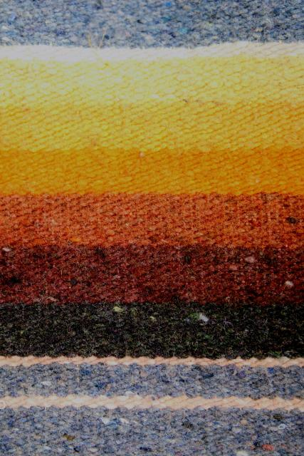 vintage Saltillo Mexican Indian blanket southwest serape stripes