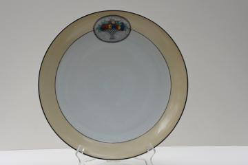 vintage Scherzer Bavaria round platter or serving plate, art deco fruit basket pattern