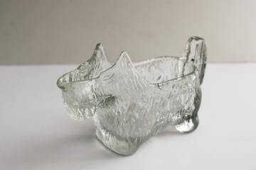 vintage Scottie dog pressed glass Scotty novelty cream or milk pitcher