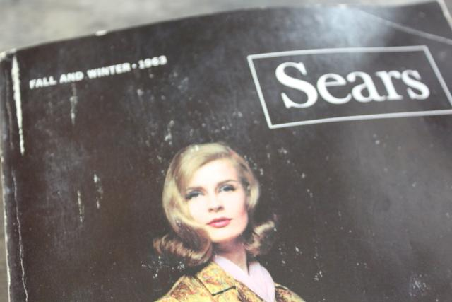 vintage Sears catalog, Fall Winter 1963 big book, collectors reference 60s retro