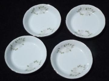 vintage Sheffield Fine China - Japan, classic floral coasters set of 4