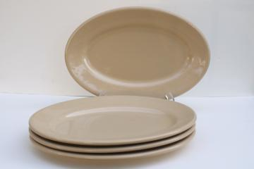 vintage Shenango adobe restaurant ware tan ironstone china, oval plates or platters set